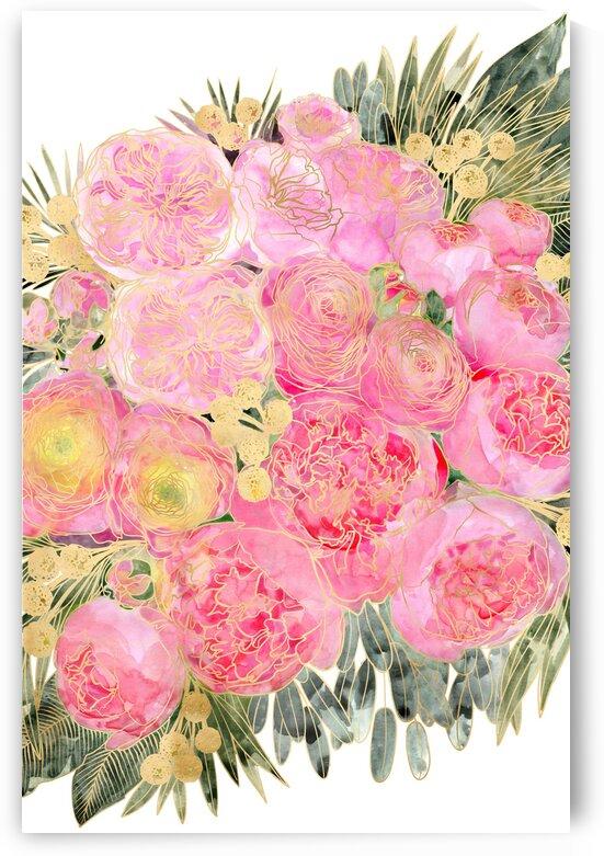 Rekkacolorfulwatercolorpeonybouquetinpastelpink 2  by blursbyai