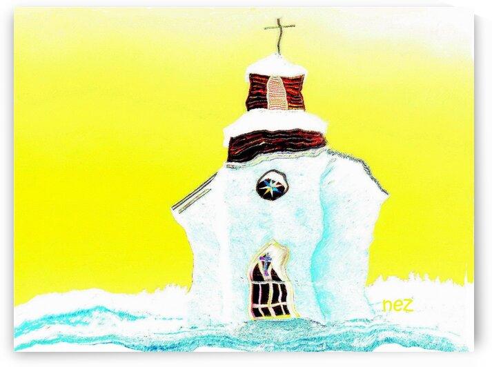 White Church by Efrain Montanez