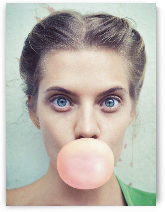 Girl with bubblegum by Elena Vizerskaya