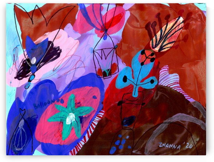 Little Red Balloon by Zhanna Shomakhova