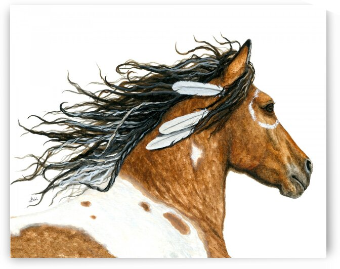 Majestic Run Curly Horse by AmyLyn Bihrle