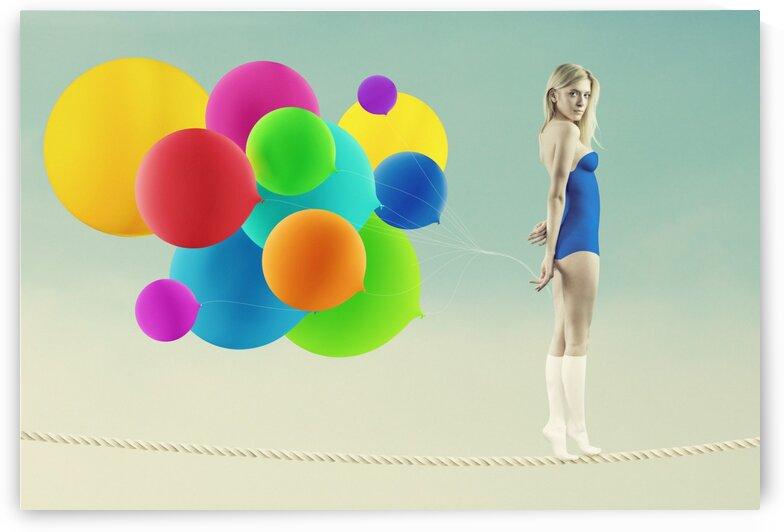 Girl on a rope by Elena Vizerskaya