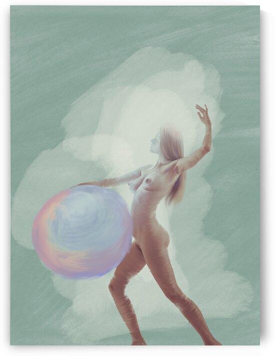 Girl with ball by Elena Vizerskaya