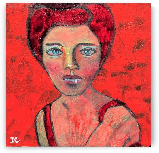 Woman in red by DaoZedd