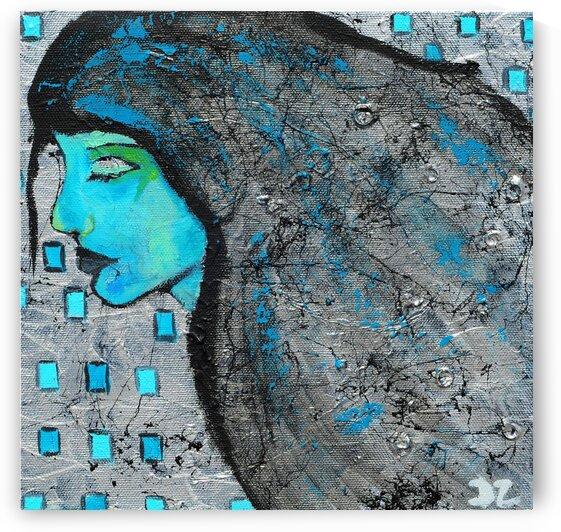 Woman in blue-2 by DaoZedd