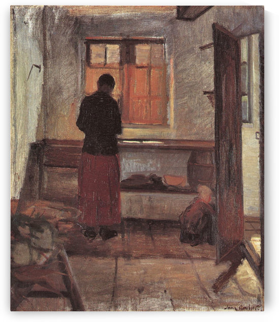Girl in the kitchen -2- by Anna Ancher by Anna Ancher