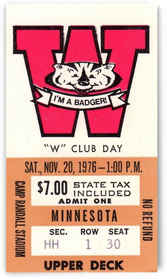 1976 Wisconsin vs. Minnesota by Row One Brand