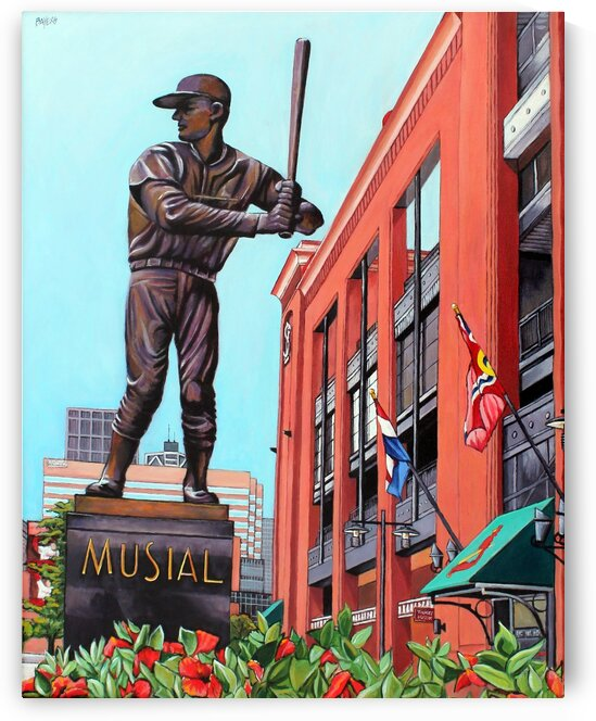 Stan Musial Statue at Busch Stadium by Rick Bayers