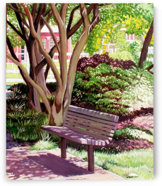 Park Bench at Botanical Gardens by Rick Bayers