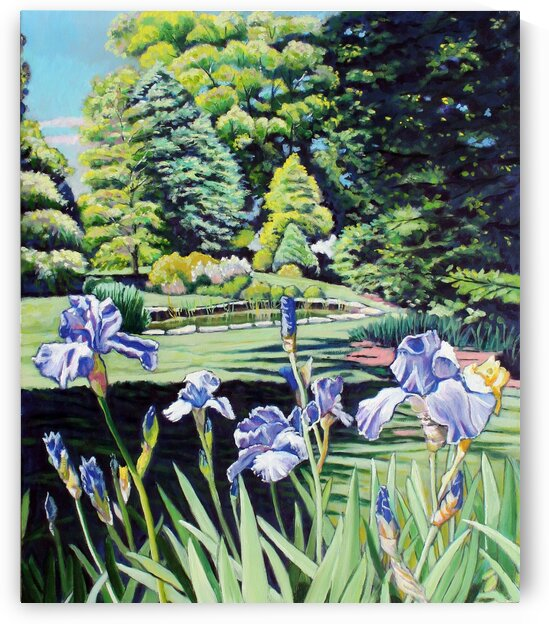 Iris near Small Pond by Rick Bayers