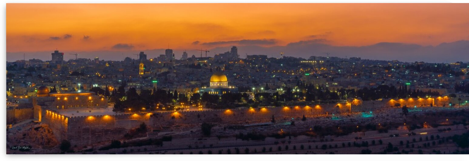 Jerusalem at sunset by Oriel ben yitzhak