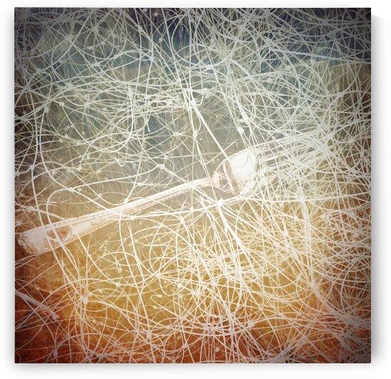 Fork in Fishing Net by BotanicalArt ca