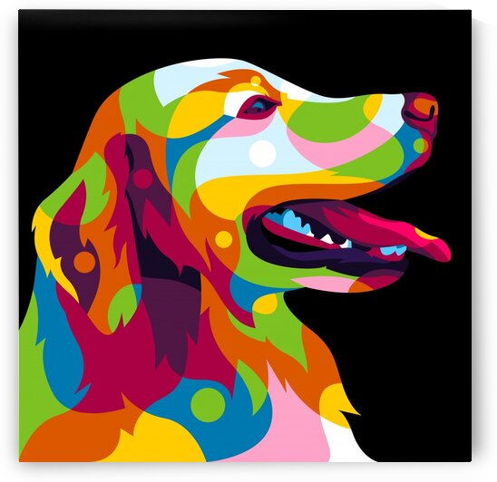 The Colorful Labrador Dog Inside Pop Art Style by wpaprint
