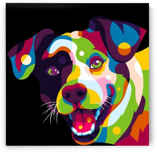 I Love Colorful Dog Portrait Pop Art by wpaprint