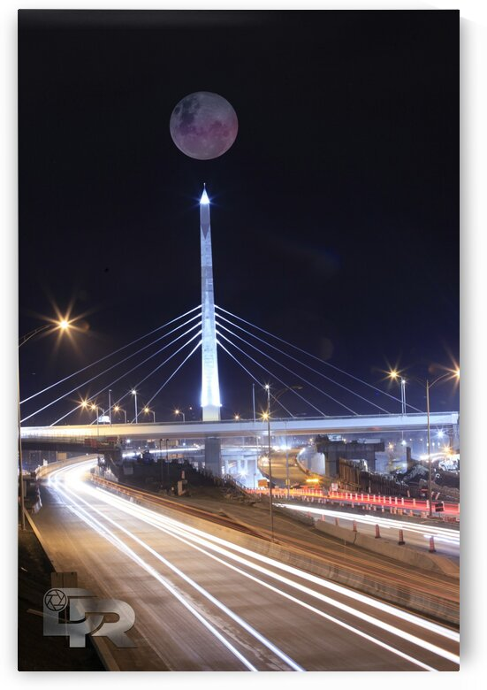 fullmoon in decarie blvd Montreal quebec by Domz Ramos