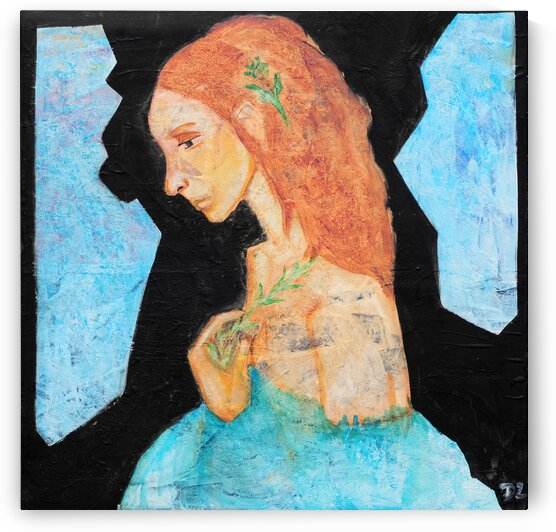Woman in blue-6 by DaoZedd