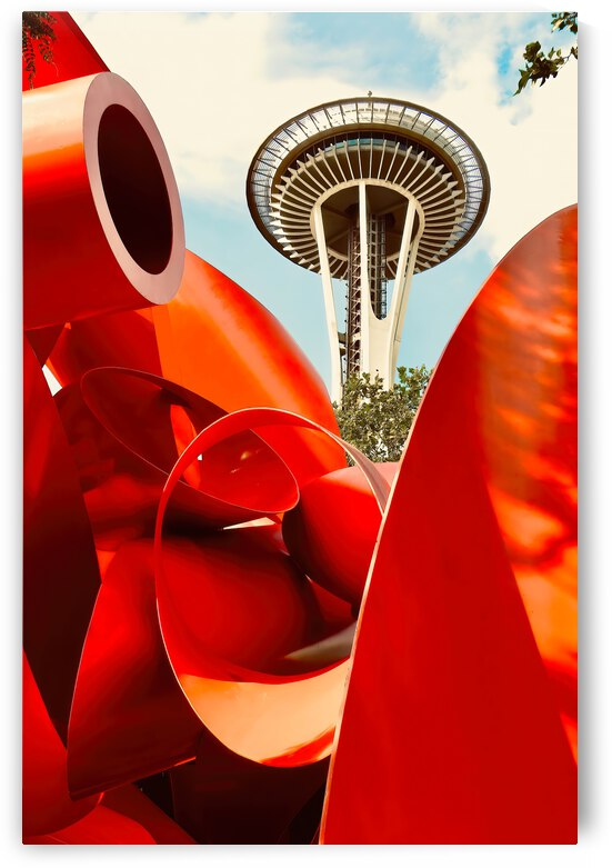 Tubes and Tower ... Seattle Washington by Fred J Bivetto