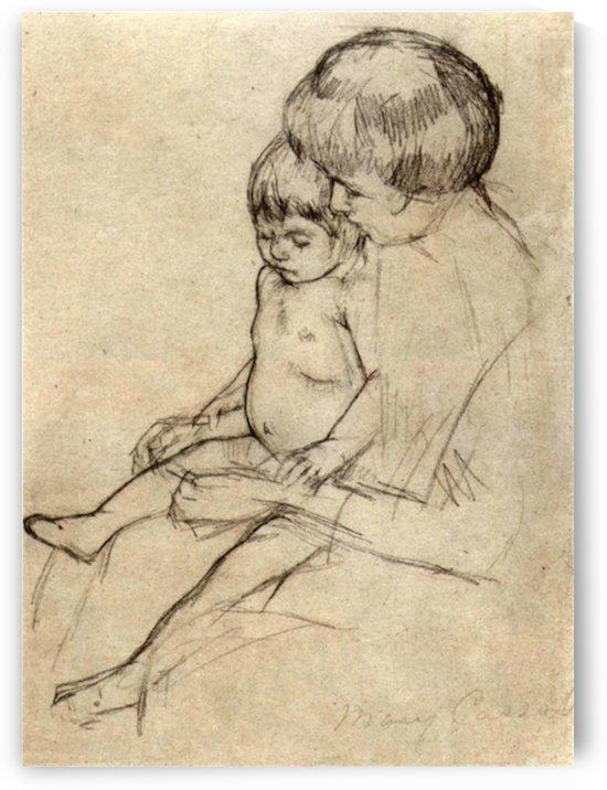 Mother and Child 2 by Cassatt by Cassatt