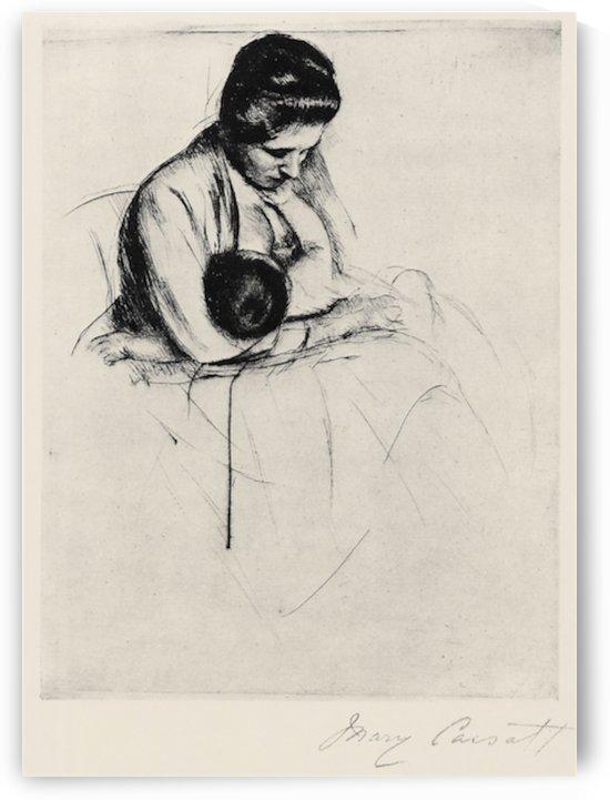Mother nurses child by Cassatt by Cassatt