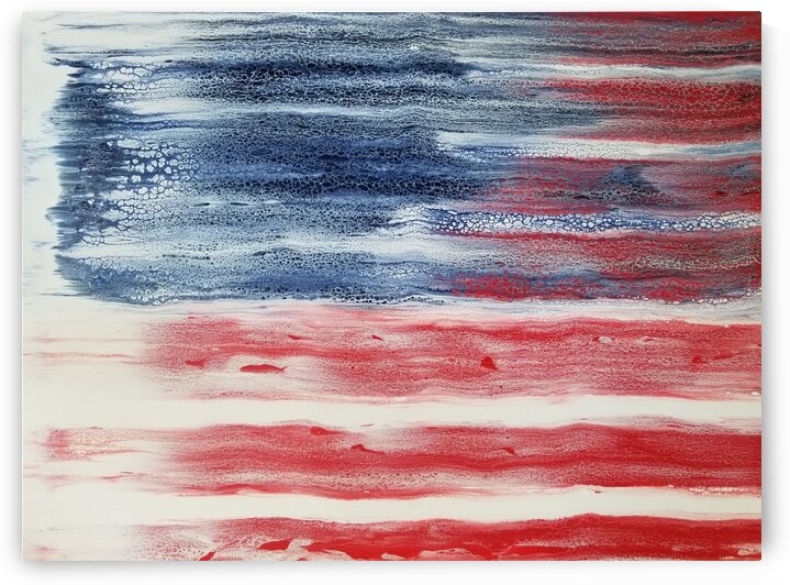 American Flag by Coastal Colors Art Co