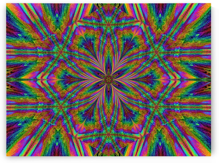 Psychedelic Trip Flower by Sherrie Larch