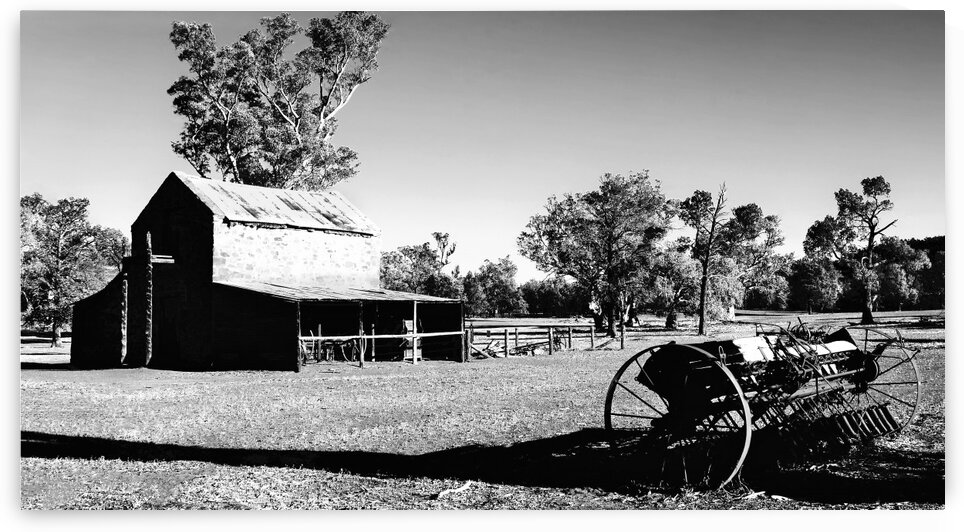 Old Wilpena Station 3 BW by Lexa Harpell
