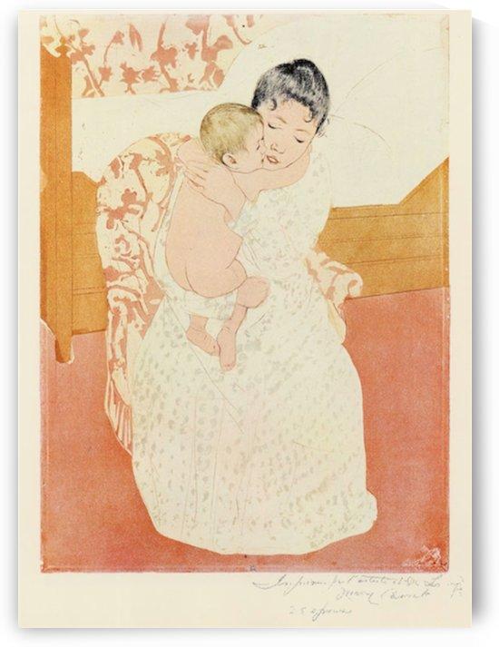 Motherly tenderness by Cassatt by Cassatt