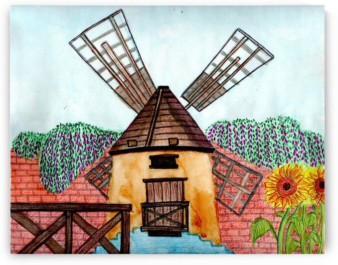 windmill -pacific & rustic landscape by Oletydraw