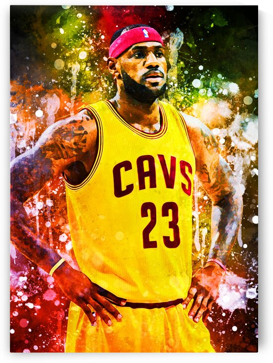 Lebron James by Coolbits Art