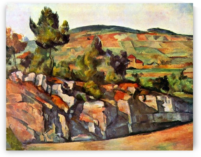 Mountains in Provence by Cezanne by Cezanne