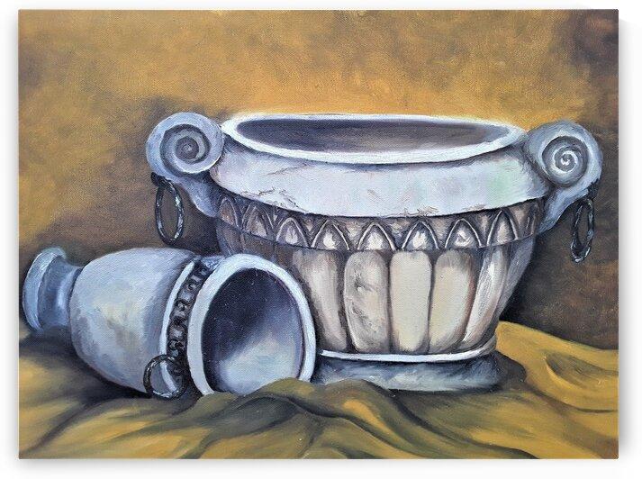 Tuscan Pots  by Debbie L Fleck