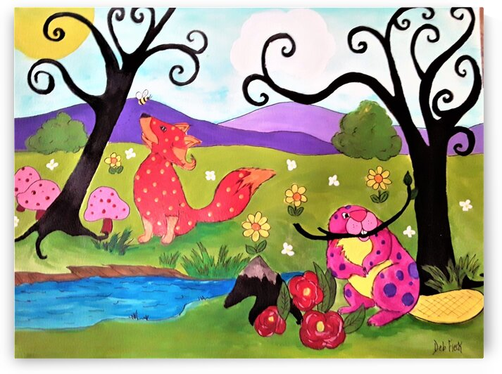 Fox & The Beaver by Debbie L Fleck