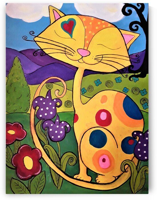 Yellow Cat by Debbie L Fleck