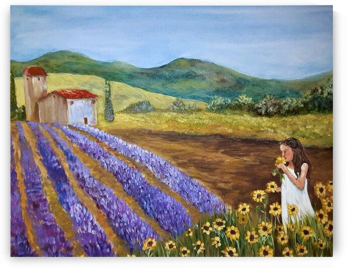 Lavender & Sunflowers by Debbie L Fleck
