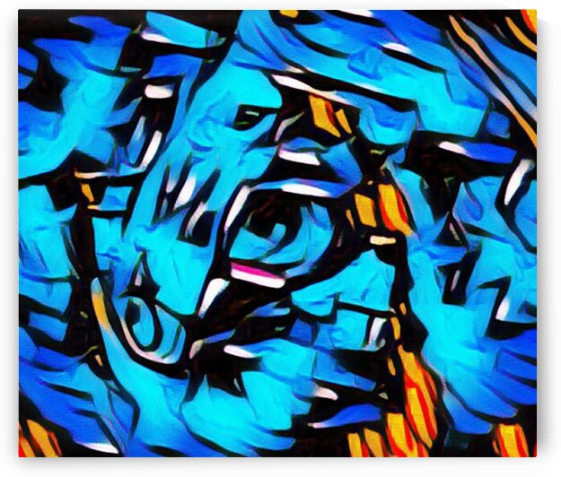 Abstract Horses by LeGustavienne