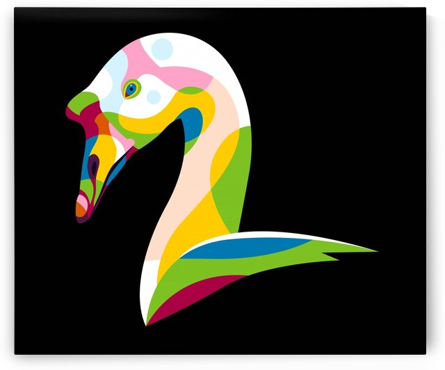 Colorful Goose by wpaprint