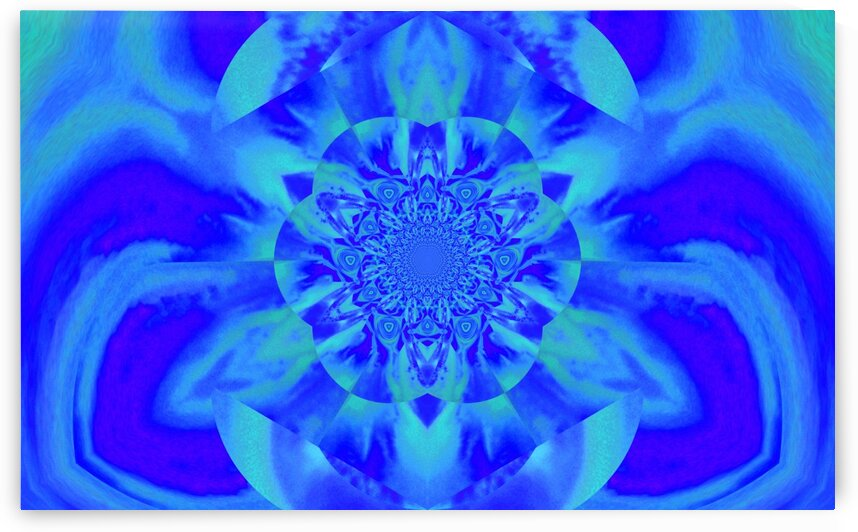 Lotus In Blue Satin by Sherrie Larch