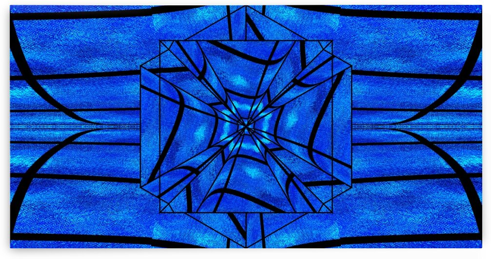 Blue Moonlight Lotus 3 by Sherrie Larch