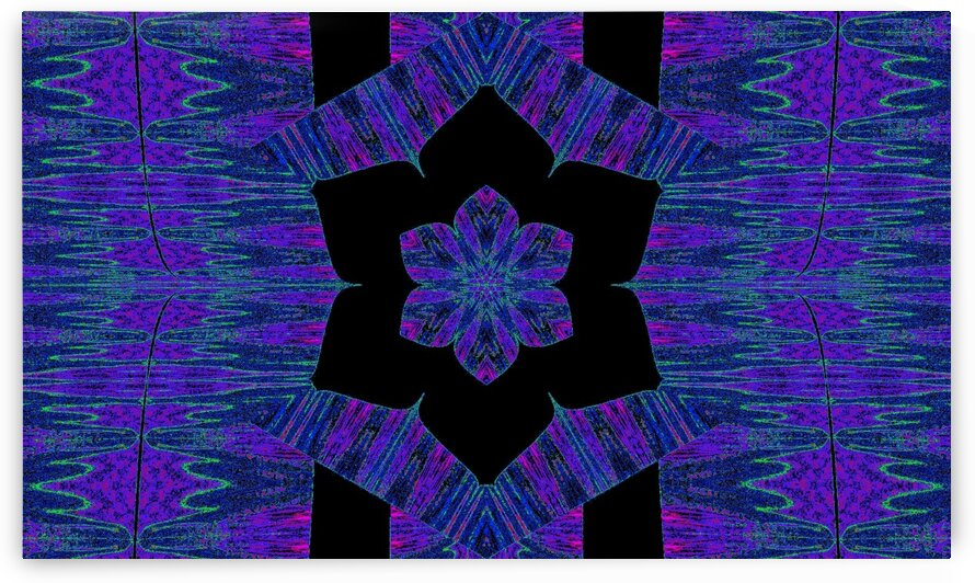 Blue Purple In Black Lotus by Sherrie Larch