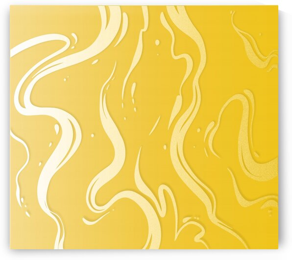 Summer Yellow Liquid Marble by rizu_designs