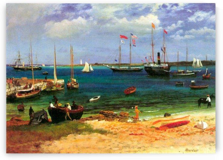 Nassau port by Bierstadt by Bierstadt