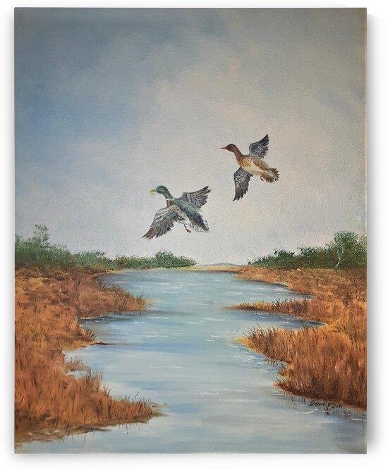 Flight Of The Mallards by Debbie L Fleck