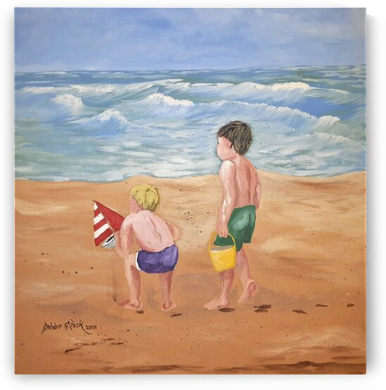 A Day At The Beach by Debbie L Fleck