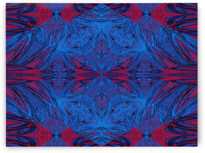 Red Into Blue Lotus by Sherrie Larch