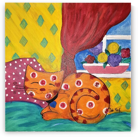 Orange Cat by Debbie L Fleck