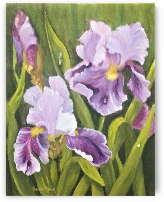 Purple Iris by Debbie L Fleck