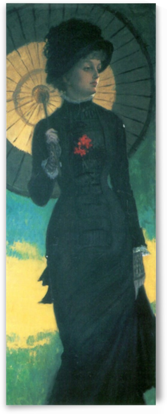 Newton woman with a parasol by Tissot by Tissot