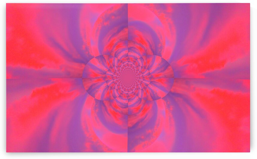 Psychedelic Pink Lotus  by Sherrie Larch