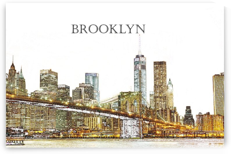 Brooklyn New York Cityscape by Angel