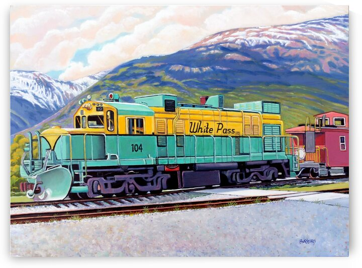 White Pass Railway Alaska by Rick Bayers